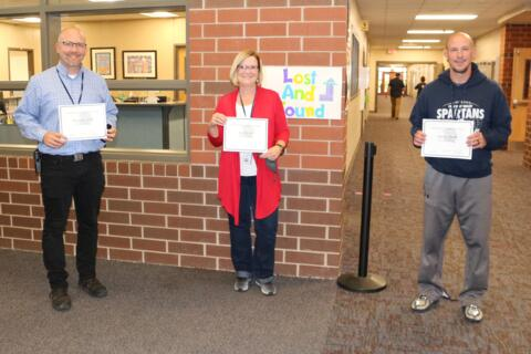 Chirs Welch (20 years), Jodi Buzzell (20 years), Andy Merrill (20 years)