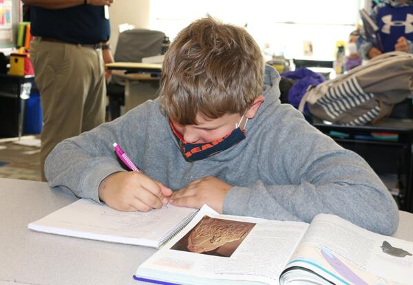 student studying ancient civilizations