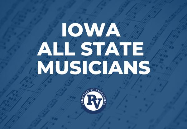 Iowa All State Musicians Graphic with sheet music