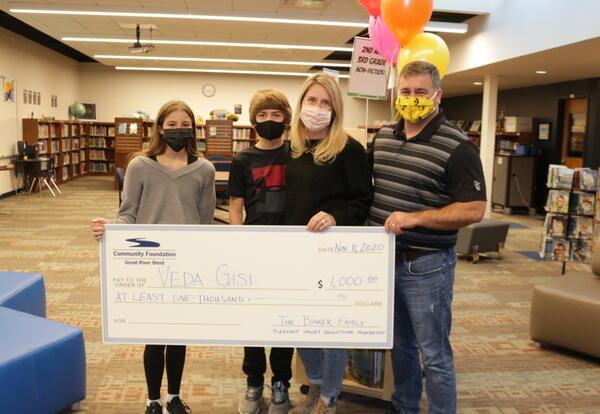 Pleasant Valley Educational Foundation Awards First Baker Family Scholarship to Veda Gisi