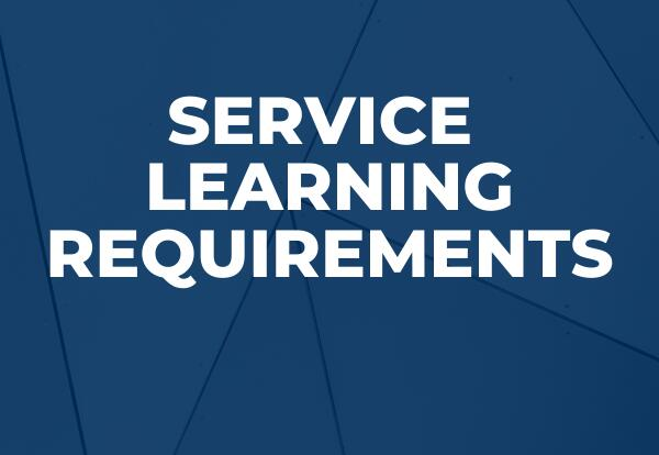 service learning requirement graphic