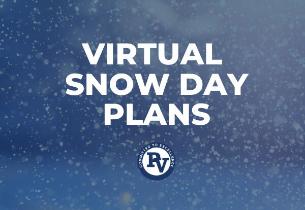 Virtual Snow Day Plans Graphic