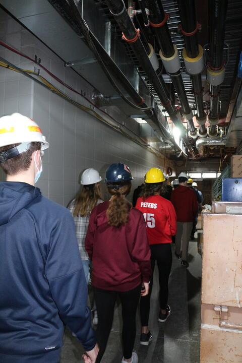 Students Tour New School Construction