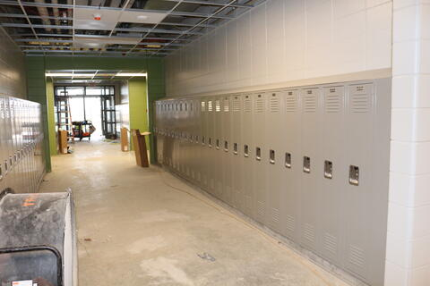New Lockers installed in hallways