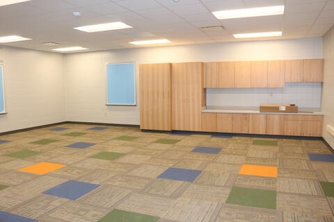 Carpet and Cabinets installed in Classrooms
