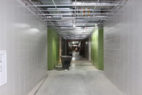 Hallways painted and ceiling installed