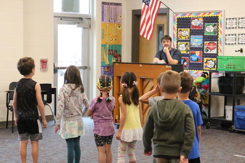 Summer School Students in music class