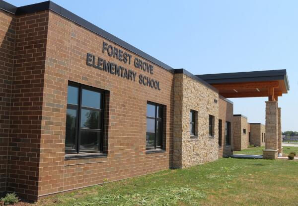 Picture of the outside of Forest Grove Elementary School