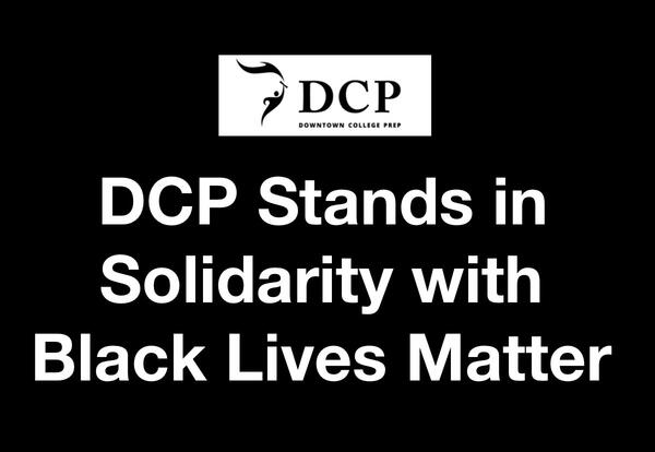 DCP Stands in Solidarity with Black Lives Matter
