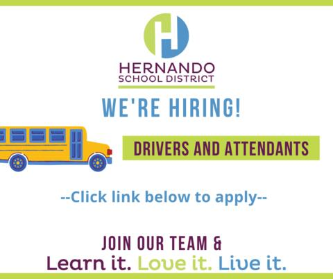 We're Hiring Bus Drivers and attendants. Click link below to apply. Join our team.