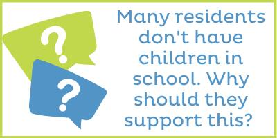 Many residents don't have children in school. Why should they support this?