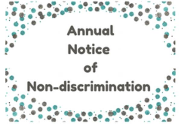 Annual Notice of Non-Discrimination