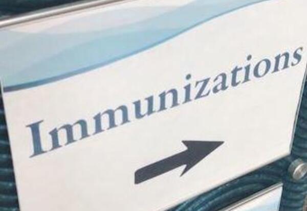 Immunizations sign