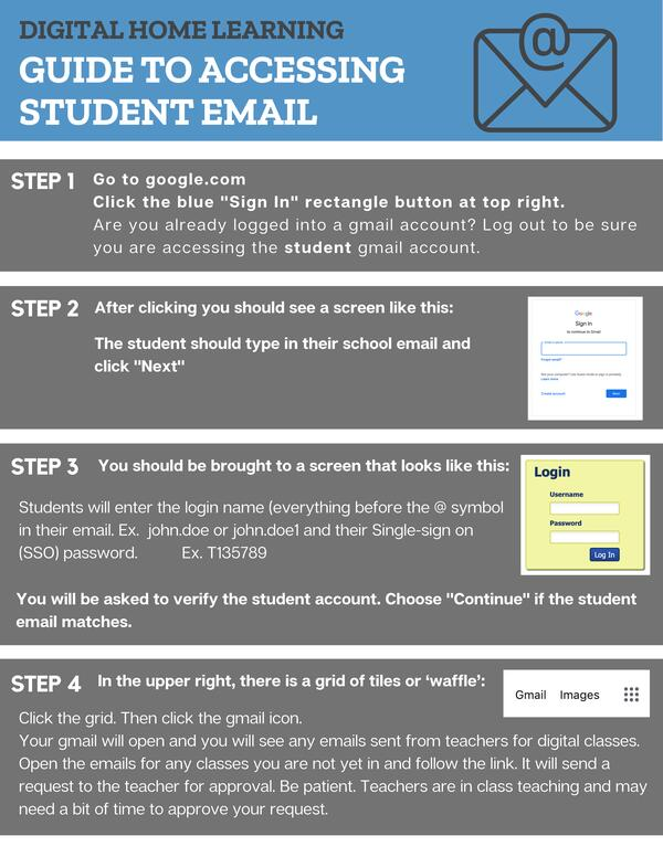 Guide to Accessing Student Email