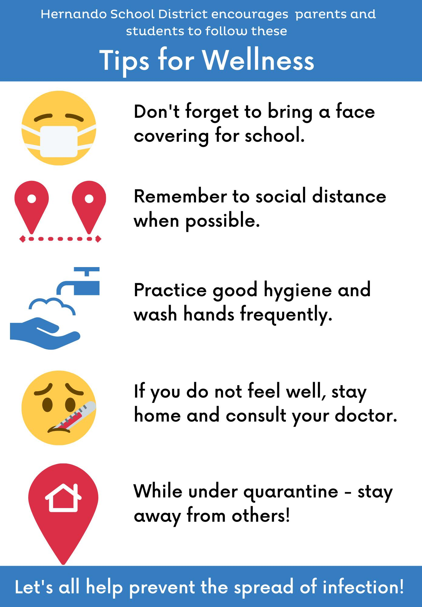 Tips for Wellness graphic