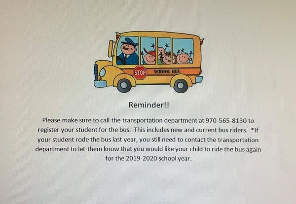 Register your student for the Bus