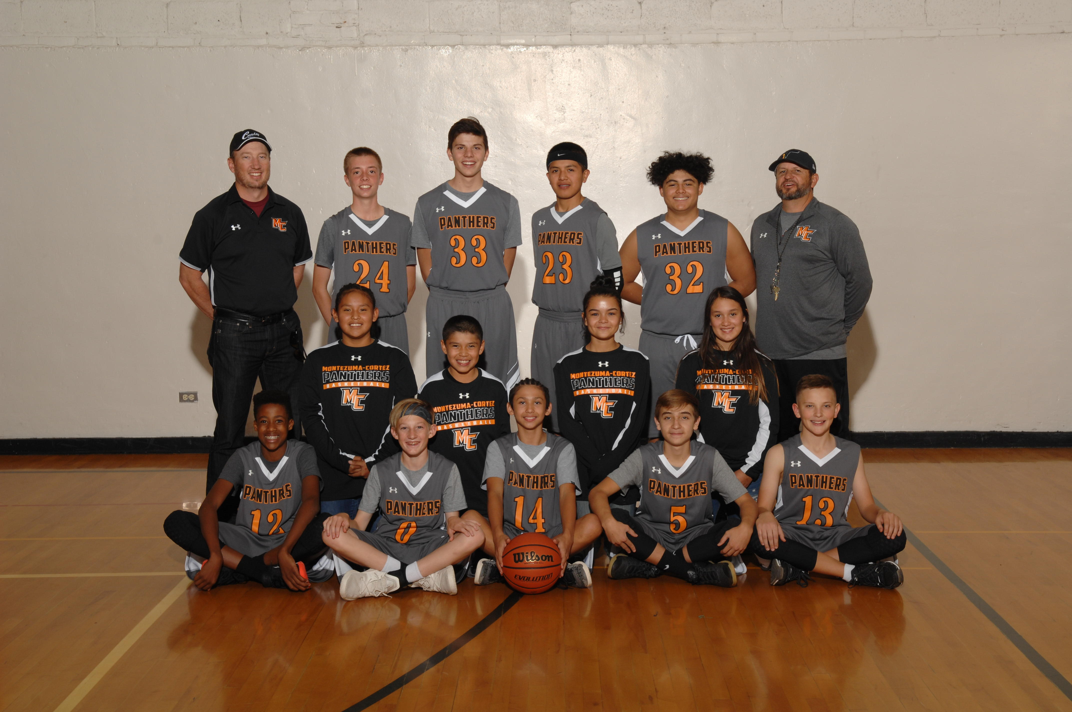 2019 Montezuma-Cortez Middle School Boys A Team