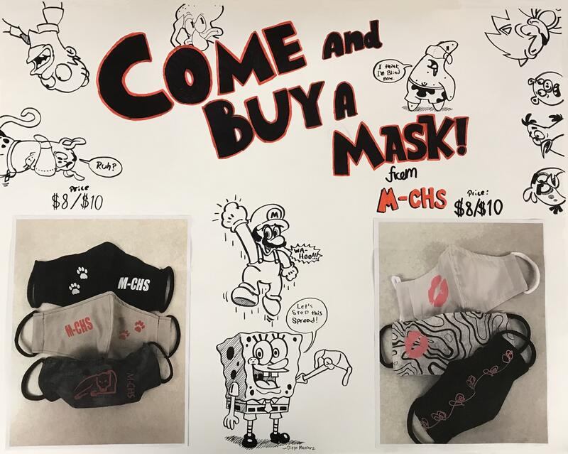 Come and Buy a mask sign
