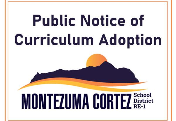 Public Notice of Curriculum Adoption