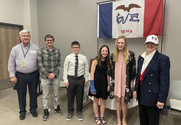 Knoxville Middle School Students Earn Awards for Their Iowa Flag Essays