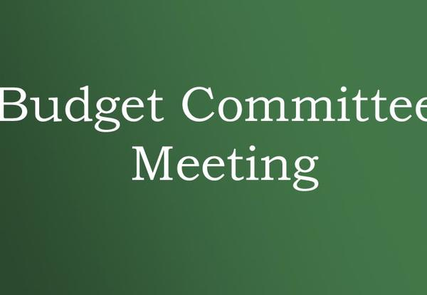 First Budget Committtee Meeting