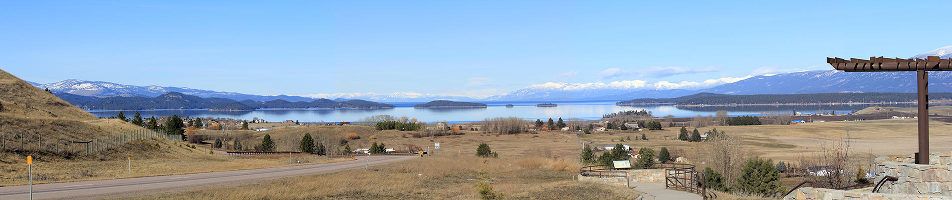 Landscape Photo Flathead Lake from Polson Hill