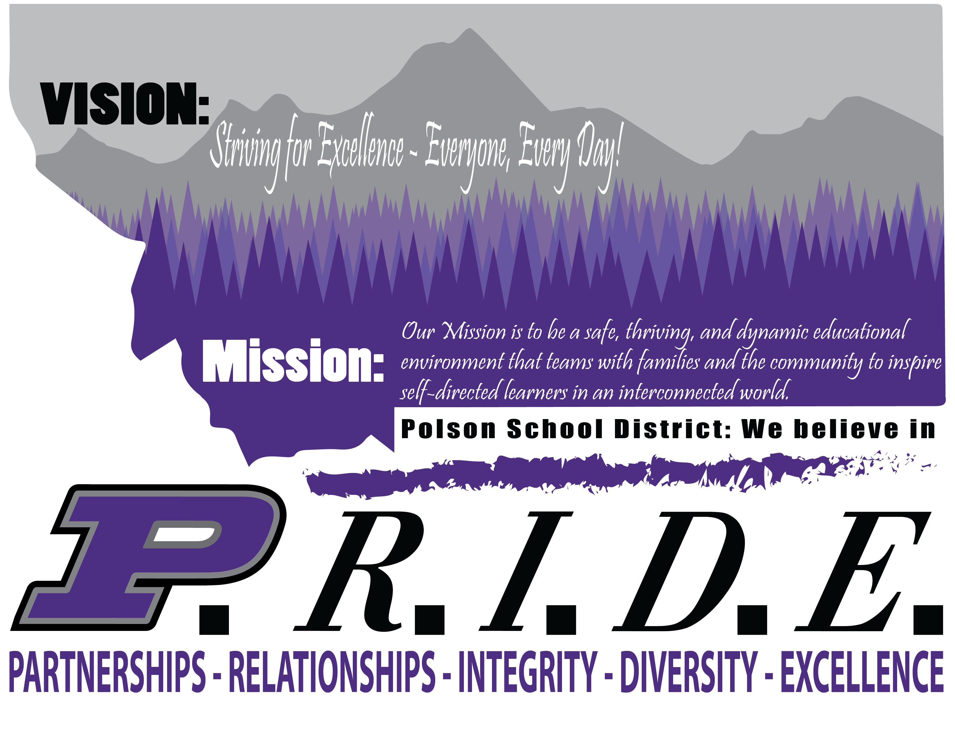 PRIDE Mission and Vision Statement Graphic