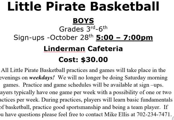Little Pirate Basketball Flyer