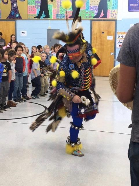 Native American chicken dancer
