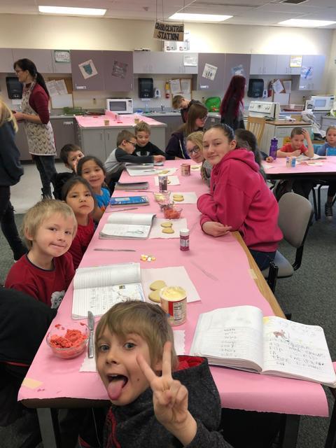 Kids Frosting Cookies