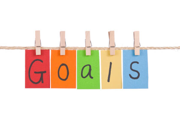 Sign showing the word Goals