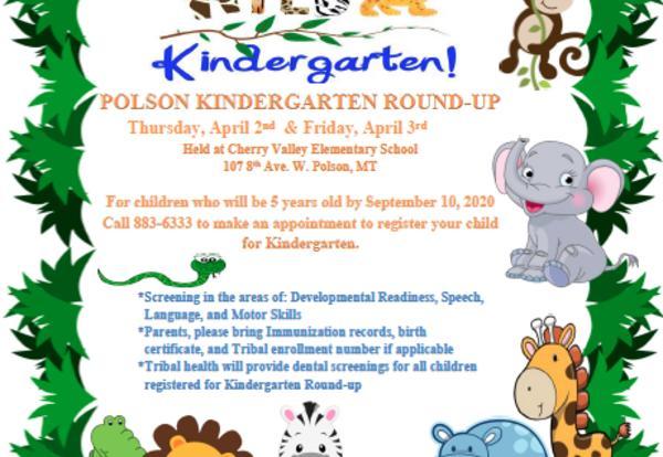 Kindergarten Round Up Flier