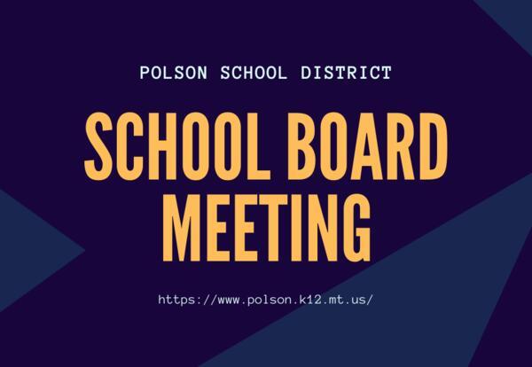 School Board Meeting September 13th 5:30pm