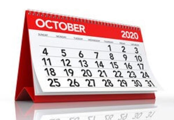 Picture of an October calendar