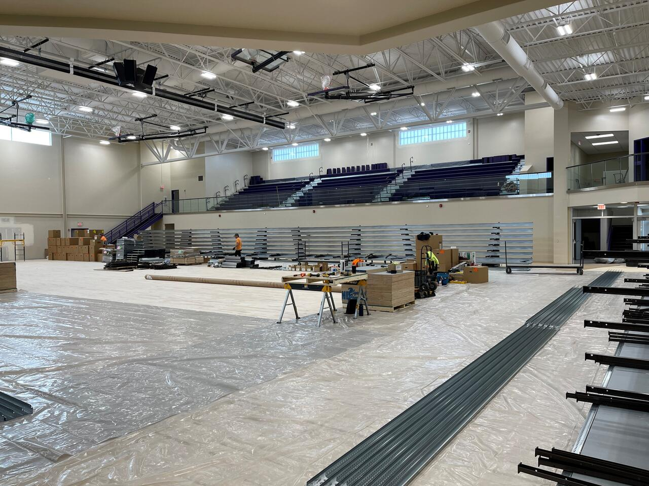Linderman Gym Construction Pictures