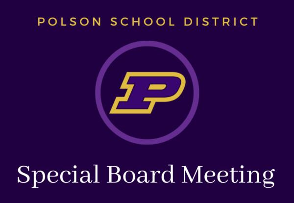 Special Board Meeting, Monday August 23rd