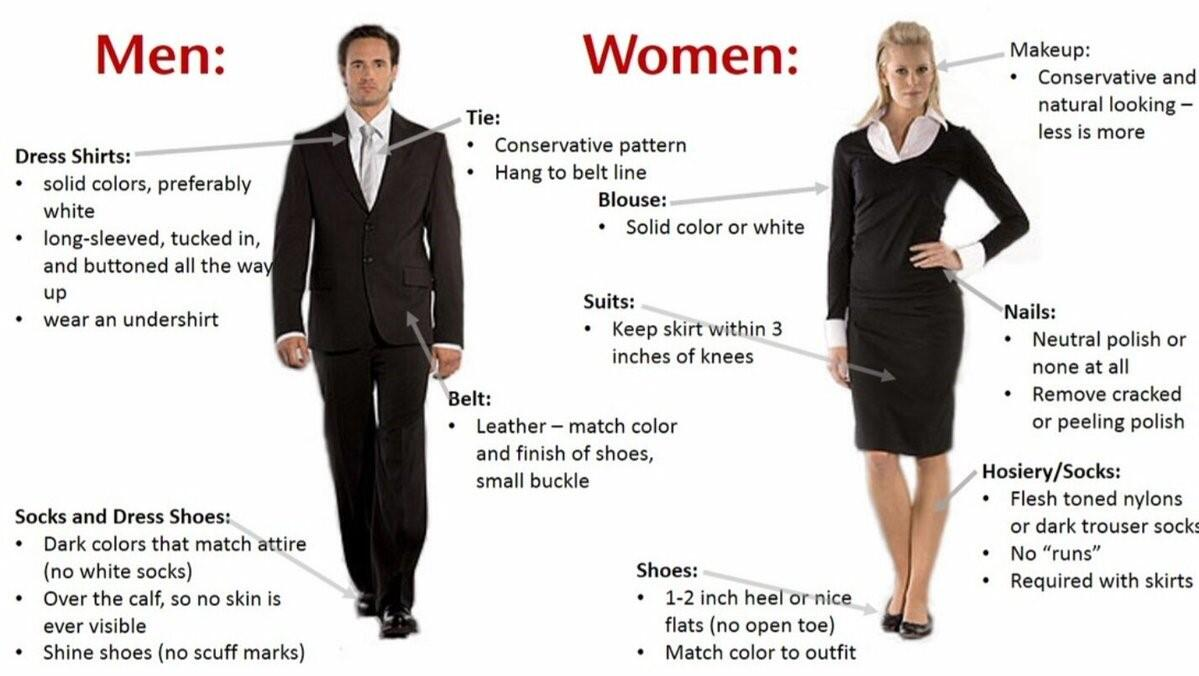 Image formal uniform days example for men and women