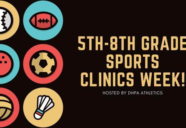 5th-8th grade Spring Sports Clinics