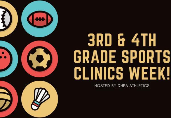 3rd & 4th grade Spring Sports Clinics