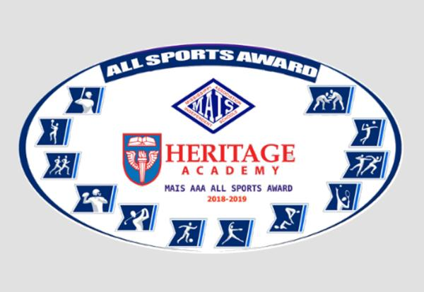 Heritage Academy Named 2019 MAIS All Sports Award Recipient