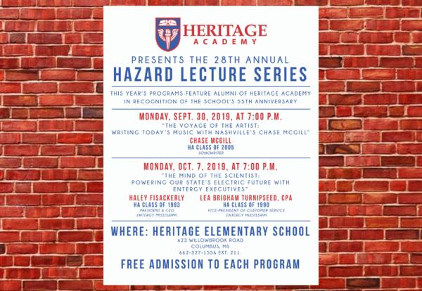 28th Annual Hazard Lecture Series