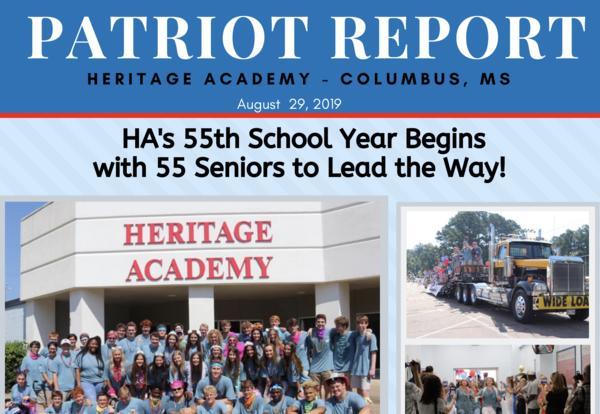 August 2019 Patriot Report Newsletter