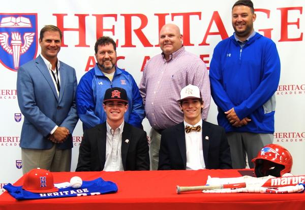 Harris and Hyde Sign Baseball Letters of Intent