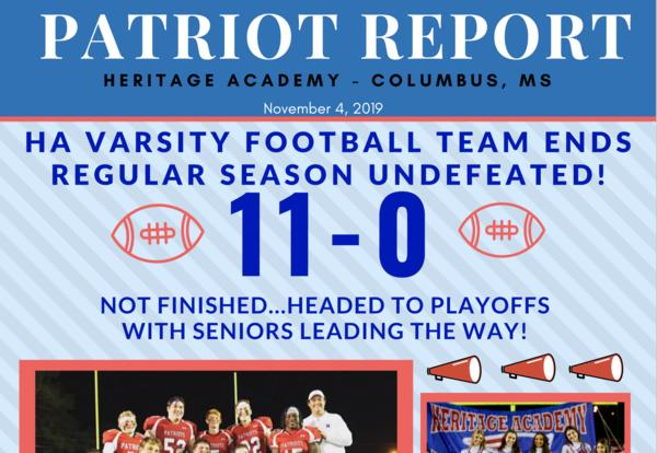 Nov. 4th Edition of the Patriot Report