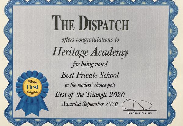 Heritage Academy Voted Best Private School in Golden Triangle