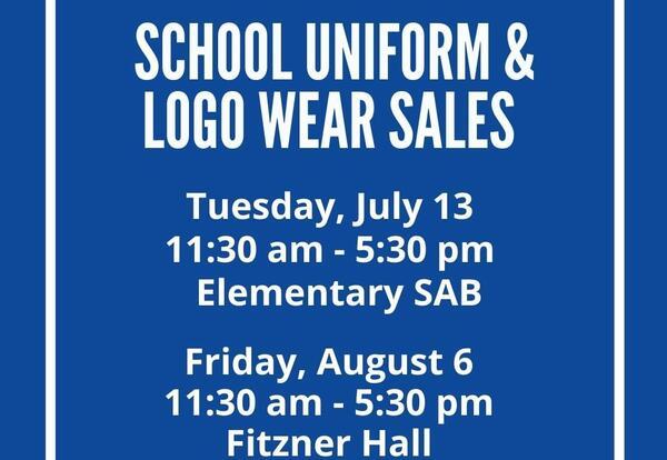School Uniform and Logo Wear Sale