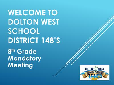 8th Grade Graduation Meeting Information
