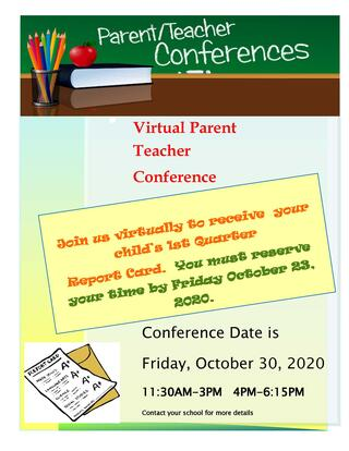 Parent-Teacher Conference flyer