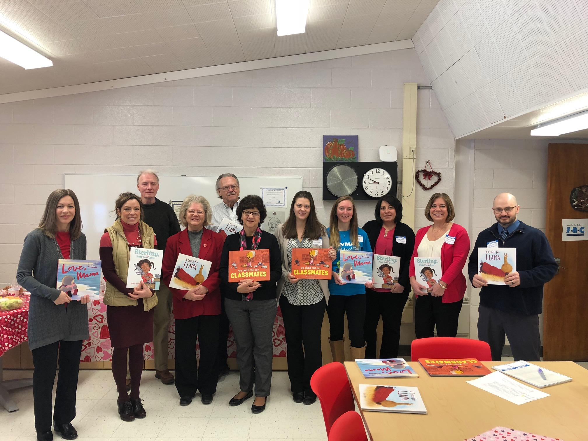 Northwest Chamber of Commerce Read Aloud participants