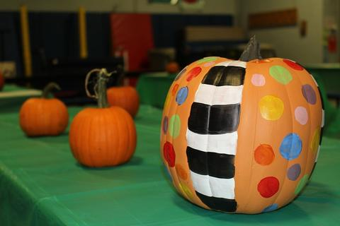 Picture of painted pumpkin